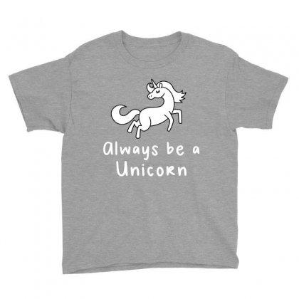 Always Be A Unicorn Youth Tee Designed By Ofutlu