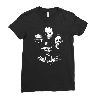 Horror Icons Ladies Fitted T-shirt Designed By Monzart