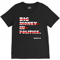 big money in politics V-Neck Tee | Artistshot