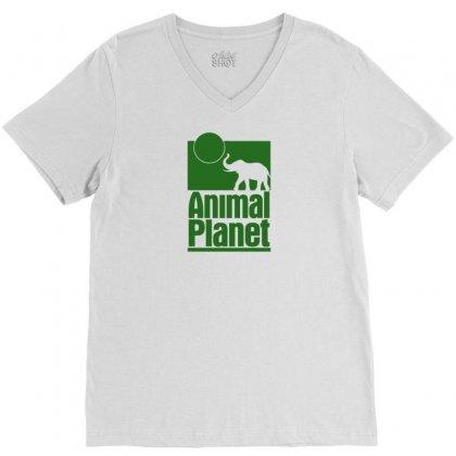 Animal Planet V-neck Tee Designed By Printshirts