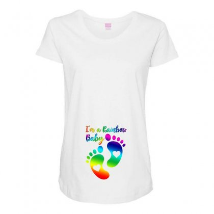 I'm A Rainbow Baby Maternity Scoop Neck T-shirt Designed By Ofutlu