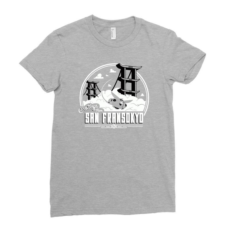 Greetings From San Fransokyo Ladies Fitted T-shirt   Artistshot