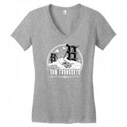 greetings from san fransokyo Women's V-Neck T-Shirt   Artistshot