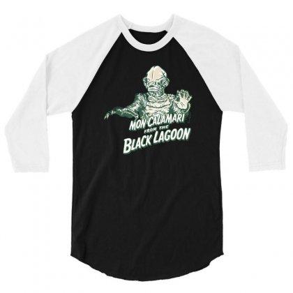 Mon Calamari From The Black Lagoon 3/4 Sleeve Shirt Designed By Mash Art