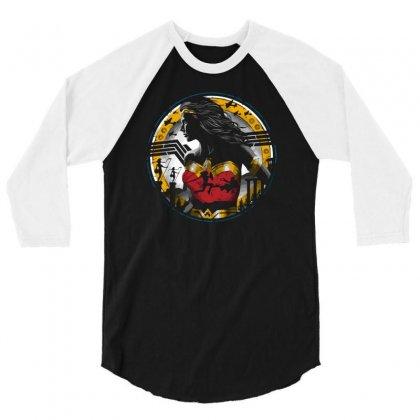 Amazon Girl 3/4 Sleeve Shirt Designed By Ronz Art