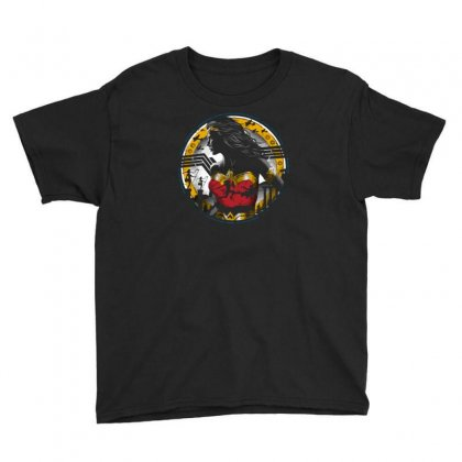 Amazon Girl Youth Tee Designed By Ronz Art