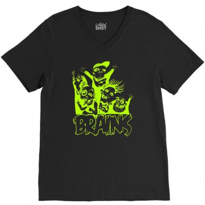 Brain Squad V-neck Tee Designed By Firstore