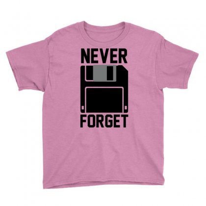 Never Forget Floppy Disk Youth Tee Designed By Deomatis9888