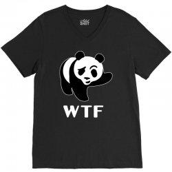 wtf panda V-Neck Tee   Artistshot