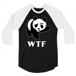 wtf panda 3/4 Sleeve Shirt   Artistshot
