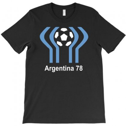Argentina 78 World Cup 1978 Retro Football T-shirt Designed By Mdk Art