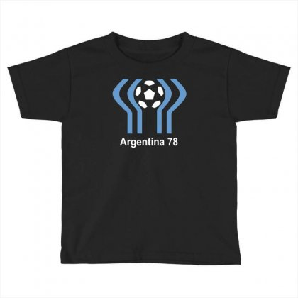 Argentina 78 World Cup 1978 Retro Football Toddler T-shirt Designed By Mdk Art