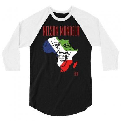 Nelson Mandela 1918 3/4 Sleeve Shirt Designed By Printshirts