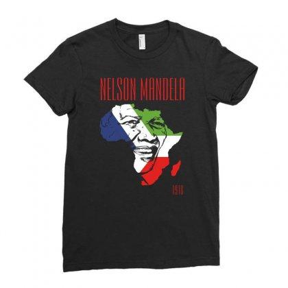 Nelson Mandela 1918 Ladies Fitted T-shirt Designed By Printshirts