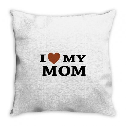 I Love My Mom Throw Pillow Designed By Megaagustina