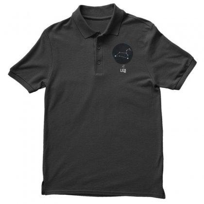 Leo Zodiac Sign Minimal Design Men's Polo Shirt
