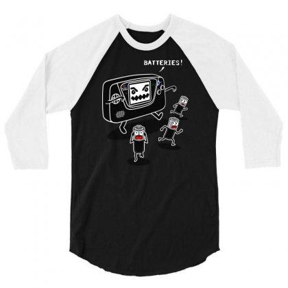 Batteries Nightmare 3/4 Sleeve Shirt Designed By Karlangas