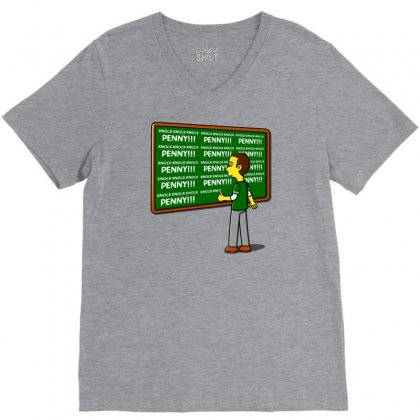 Blackboard Theory V-neck Tee Designed By Karlangas
