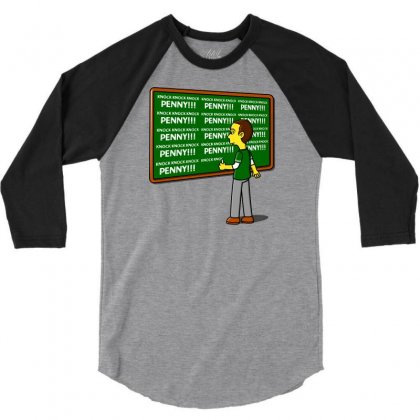 Blackboard Theory 3/4 Sleeve Shirt Designed By Karlangas