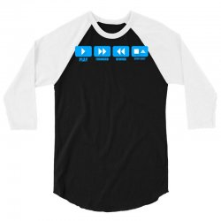 music freak cd player 3/4 Sleeve Shirt | Artistshot