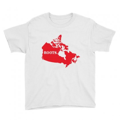 Canada Continent Roots Youth Tee Designed By Sengul