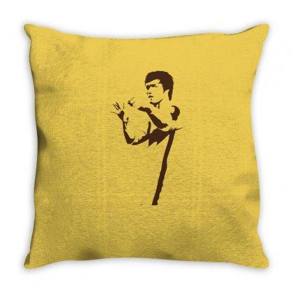 Bruce Lee Throw Pillow Designed By Artistshotf1