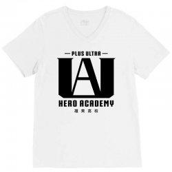 Plus Ultra Hero Academy V-Neck Tee   Artistshot