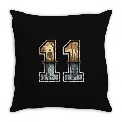 Stranger Things 11 Logo Throw Pillow Designed By Meza Design