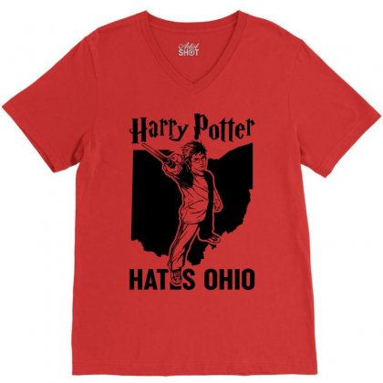 Harry Potter Hates Ohio V-neck Tee Designed By Akin