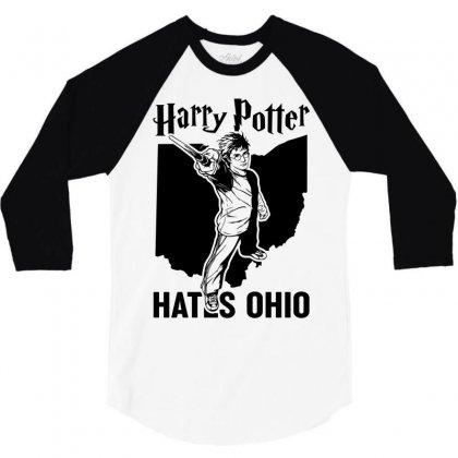Harry Potter Hates Ohio 3/4 Sleeve Shirt Designed By Akin