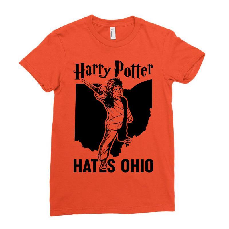 Harry Potter Hates Ohio Ladies Fitted T-shirt   Artistshot