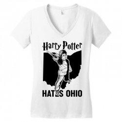 Harry Potter Hates Ohio Women's V-Neck T-Shirt   Artistshot