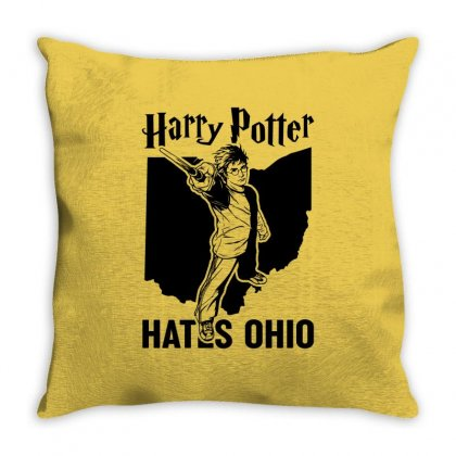 Harry Potter Hates Ohio Throw Pillow Designed By Akin
