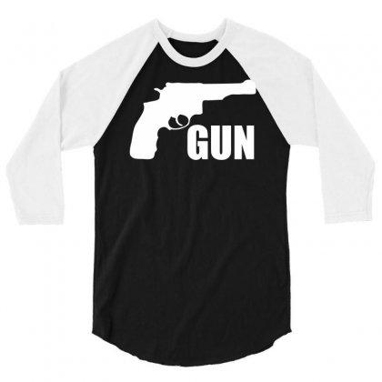 Son Of A Gun 3/4 Sleeve Shirt Designed By Printshirts