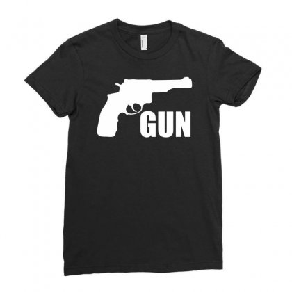 Son Of A Gun Ladies Fitted T-shirt Designed By Printshirts