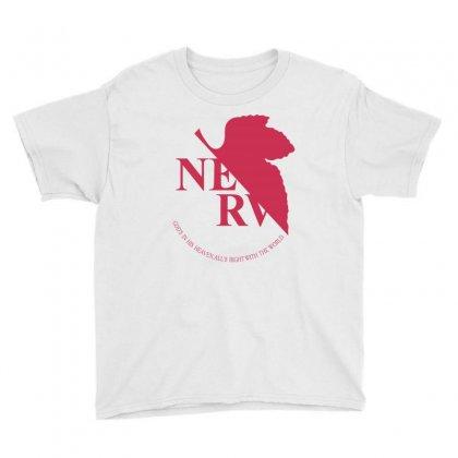 Nerv -evangelion Youth Tee Designed By Wizarts