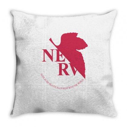 Nerv -evangelion Throw Pillow Designed By Wizarts