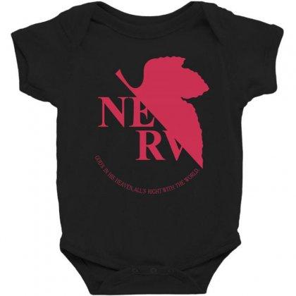 Nerv -evangelion Baby Bodysuit Designed By Wizarts