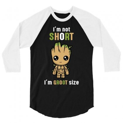 Groot Size Cool T Shirts 3/4 Sleeve Shirt Designed By Wizarts
