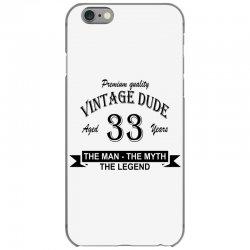 aged 33 years iPhone 6/6s Case | Artistshot