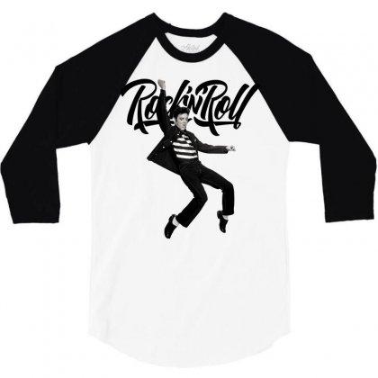 Elvis Presley Rock N Roll 3/4 Sleeve Shirt Designed By Sengul