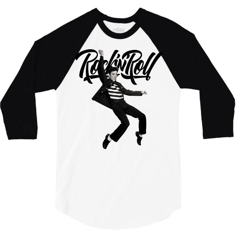 Elvis Presley Rock N Roll 3/4 Sleeve Shirt   Artistshot