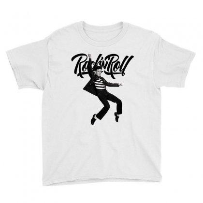 Elvis Presley Rock N Roll Youth Tee Designed By Sengul
