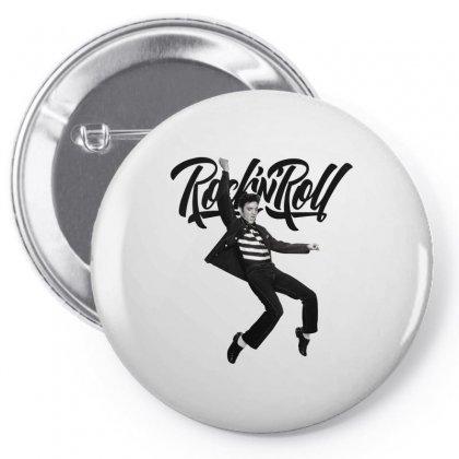 Elvis Presley Rock N Roll Pin-back Button Designed By Sengul