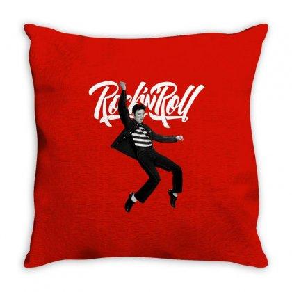 Elvis Presley Rock N Roll Throw Pillow Designed By Sengul