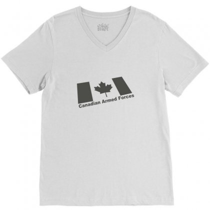 Canadian Armed Forces Army Military V-neck Tee Designed By Yudyud