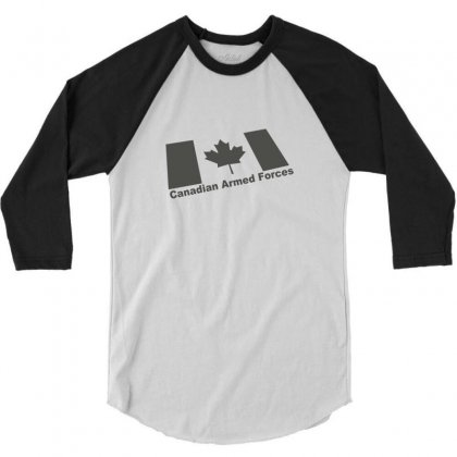 Canadian Armed Forces Army Military 3/4 Sleeve Shirt Designed By Yudyud