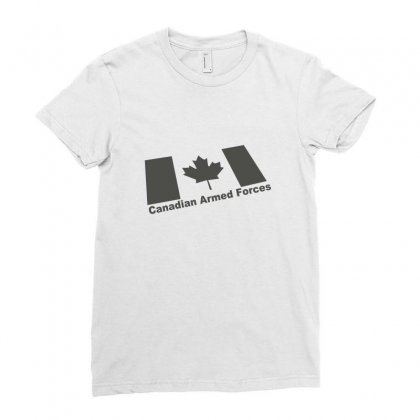 Canadian Armed Forces Army Military Ladies Fitted T-shirt Designed By Yudyud