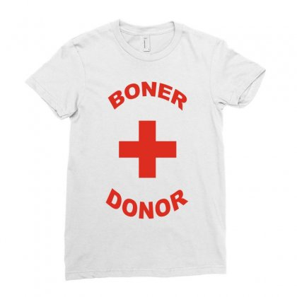 Boner Donor Ladies Fitted T-shirt Designed By Yudyud