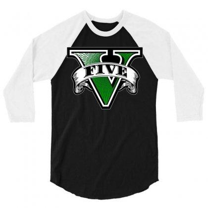 Gta 5 3/4 Sleeve Shirt Designed By Better